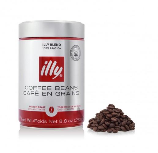 illy 100% Arabica normál pörkölésű szemes kávé fémdobozban 250g